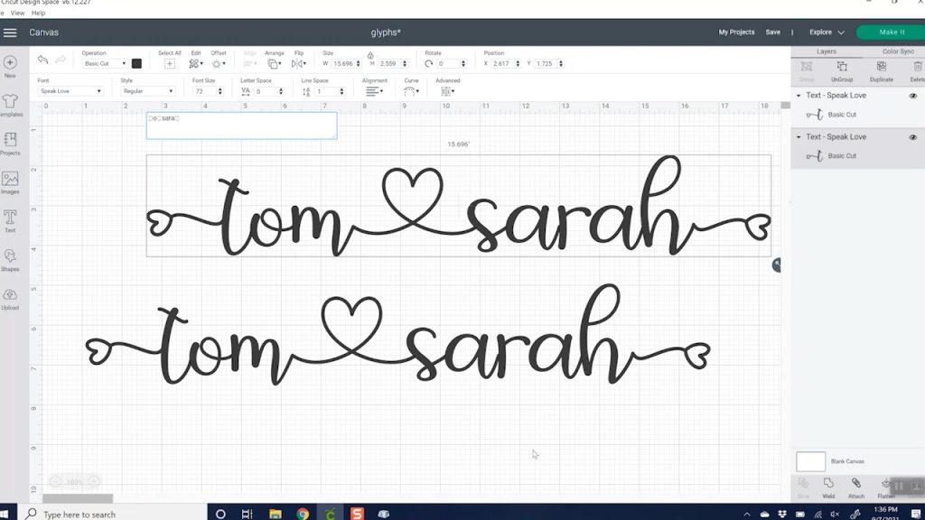 cricut design space font characters