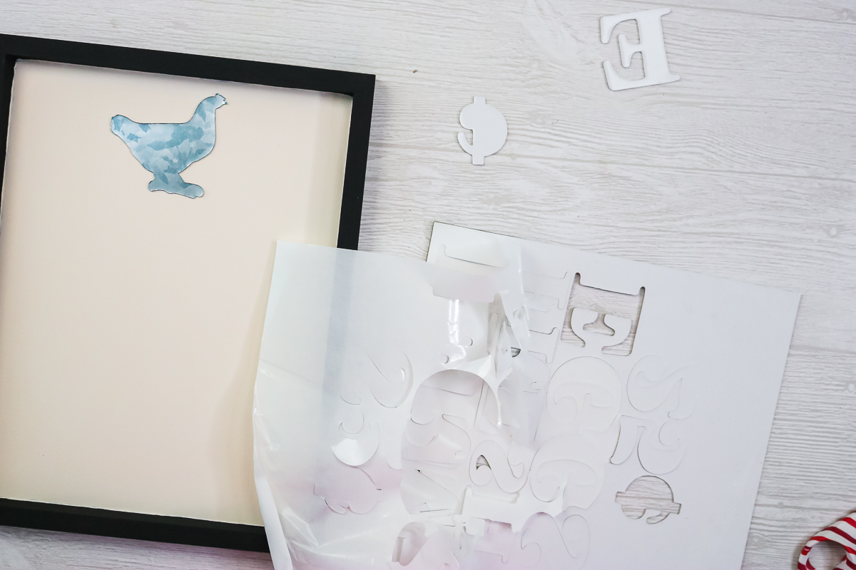 removing small pieces cut on a cricut