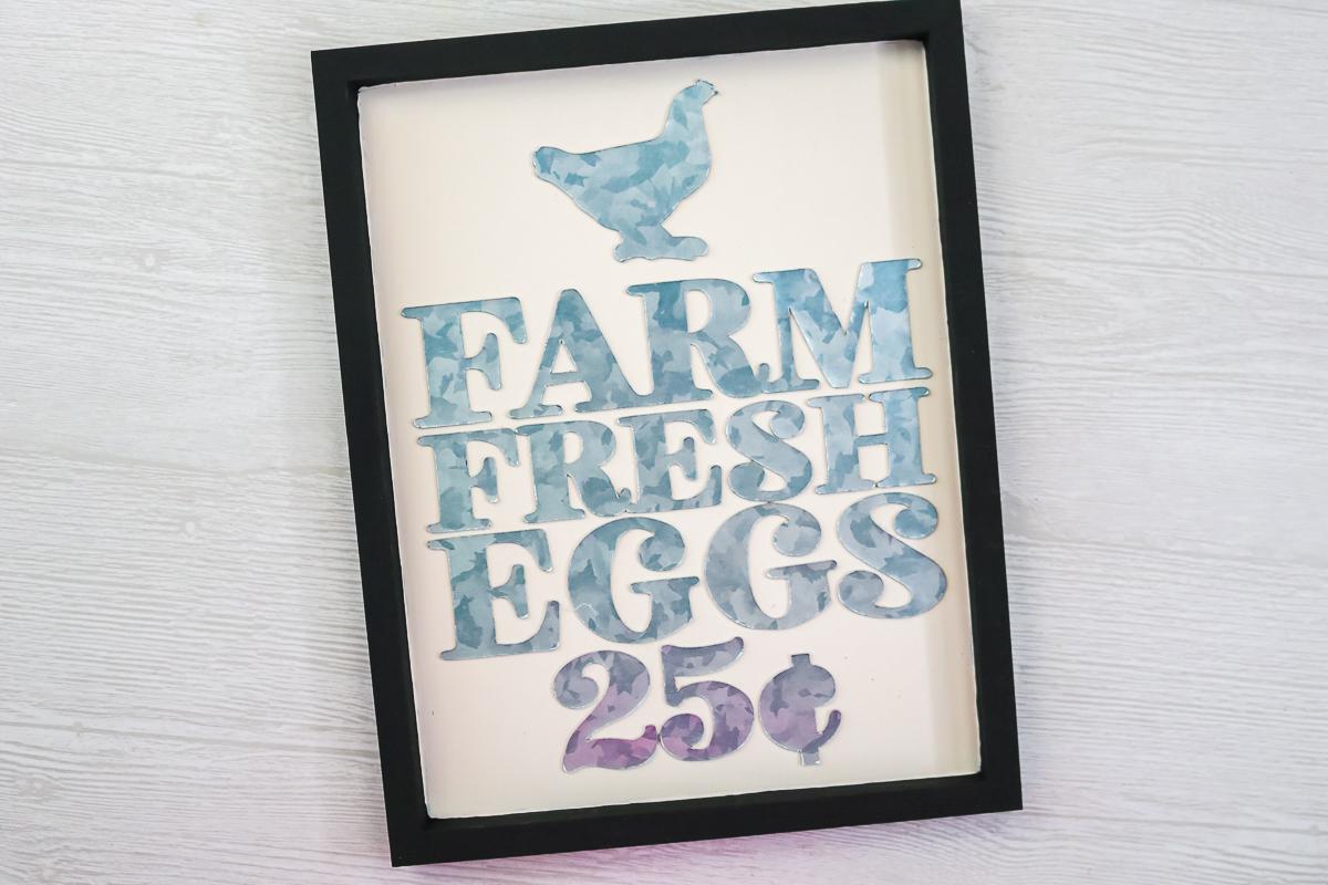 farm fresh eggs sign cut on a cricut