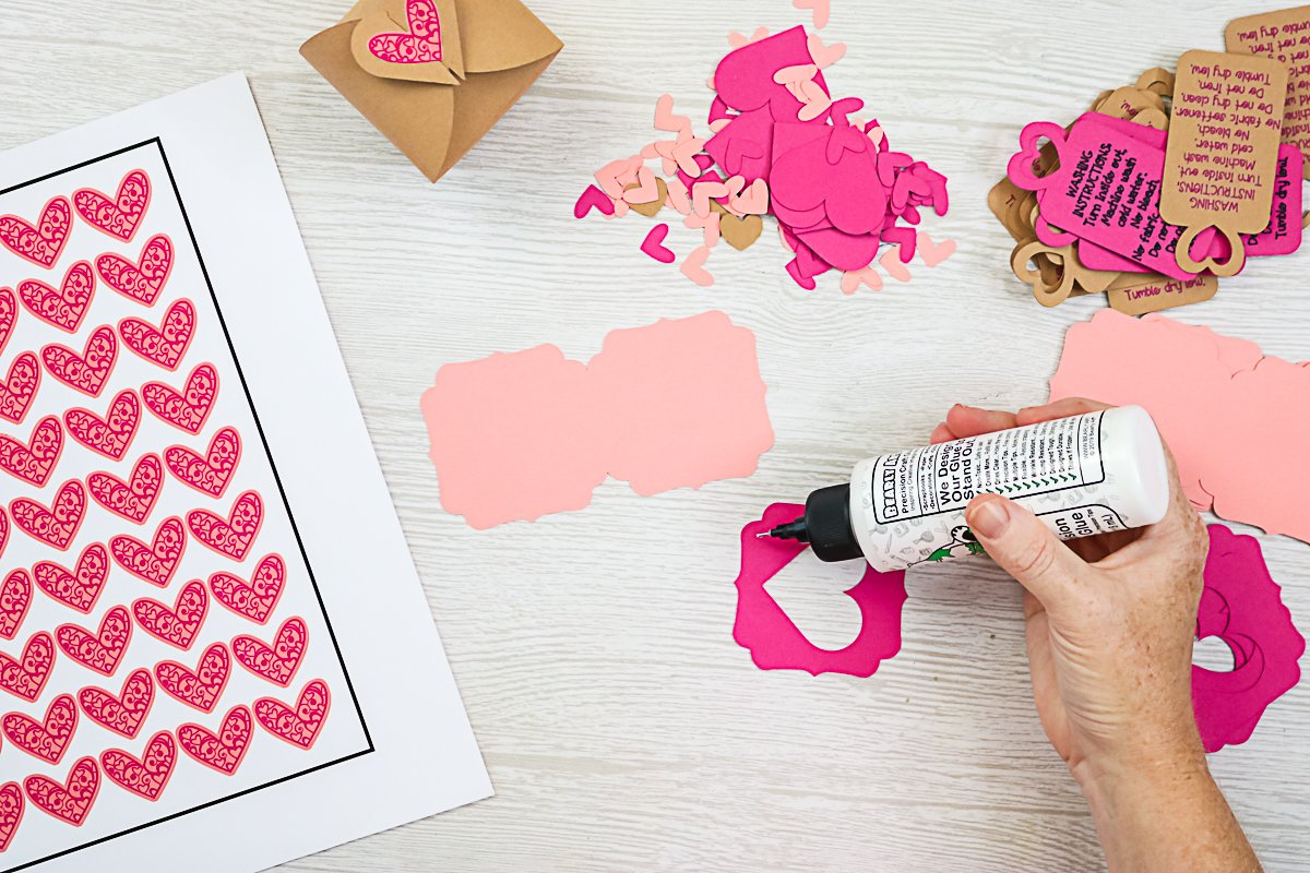 using bearly arts glue on cardstock