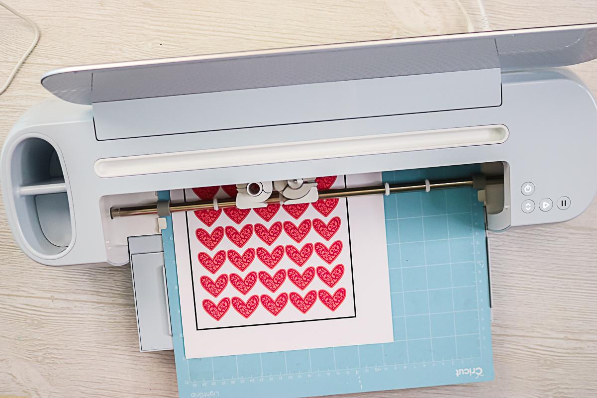 print then cut stickers on cricut maker 3