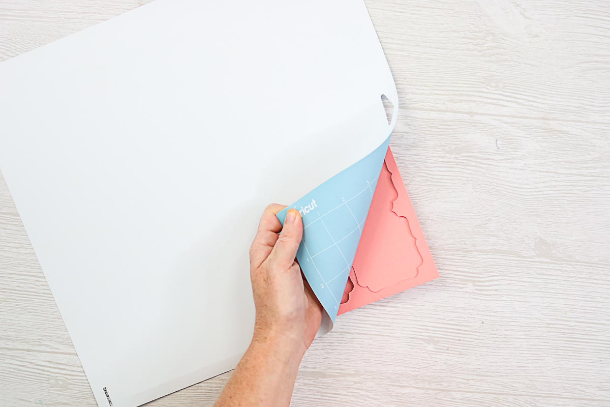 removing mat from cardstock