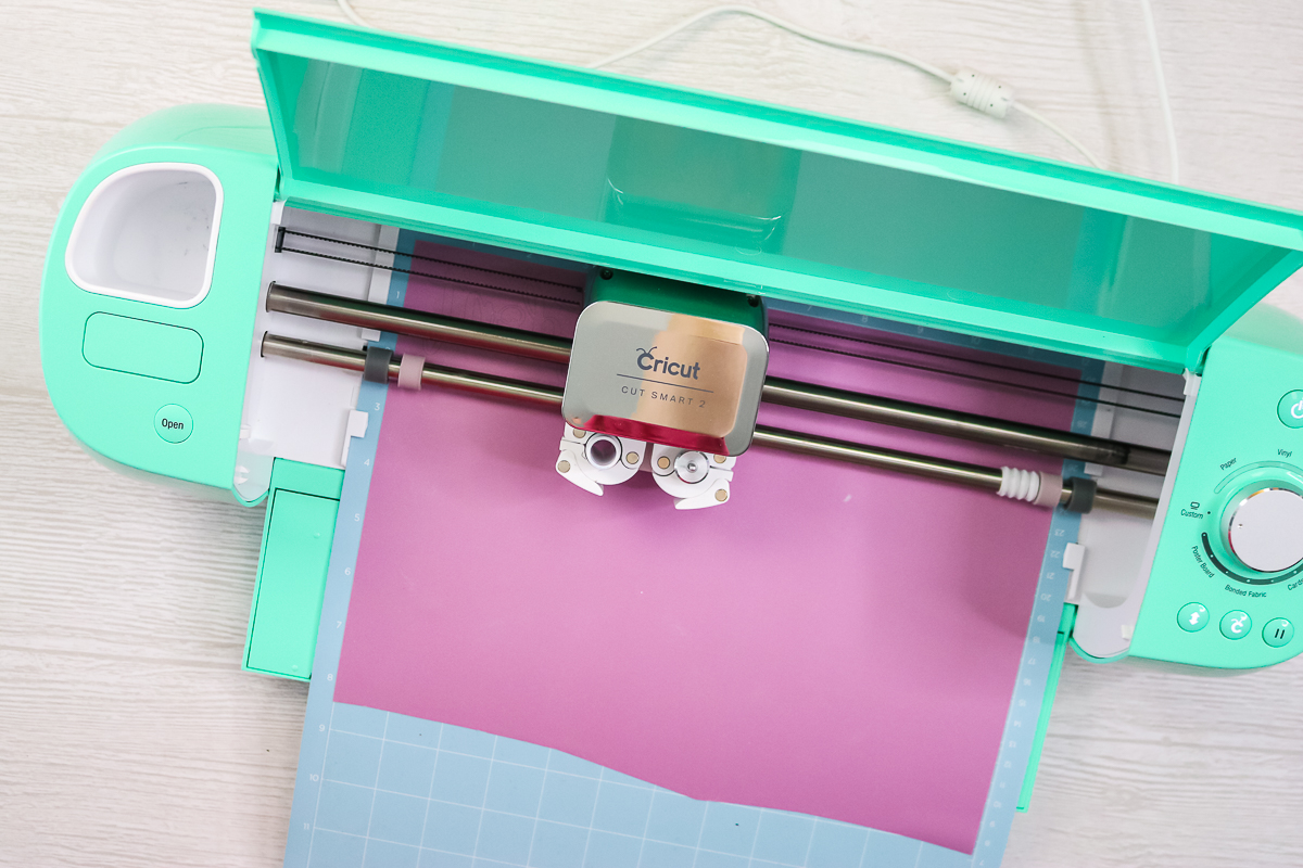 cricut infusible ink being cut by a cricut explore air 2
