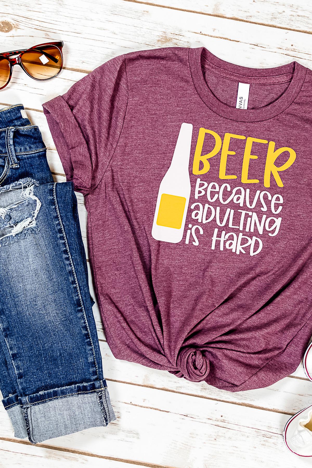 beer shirt made on a cricut