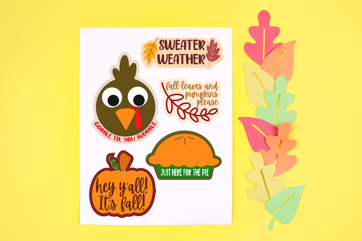free thanksgiving stickers