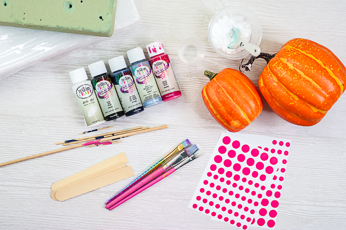 supplies for painting pumpkins
