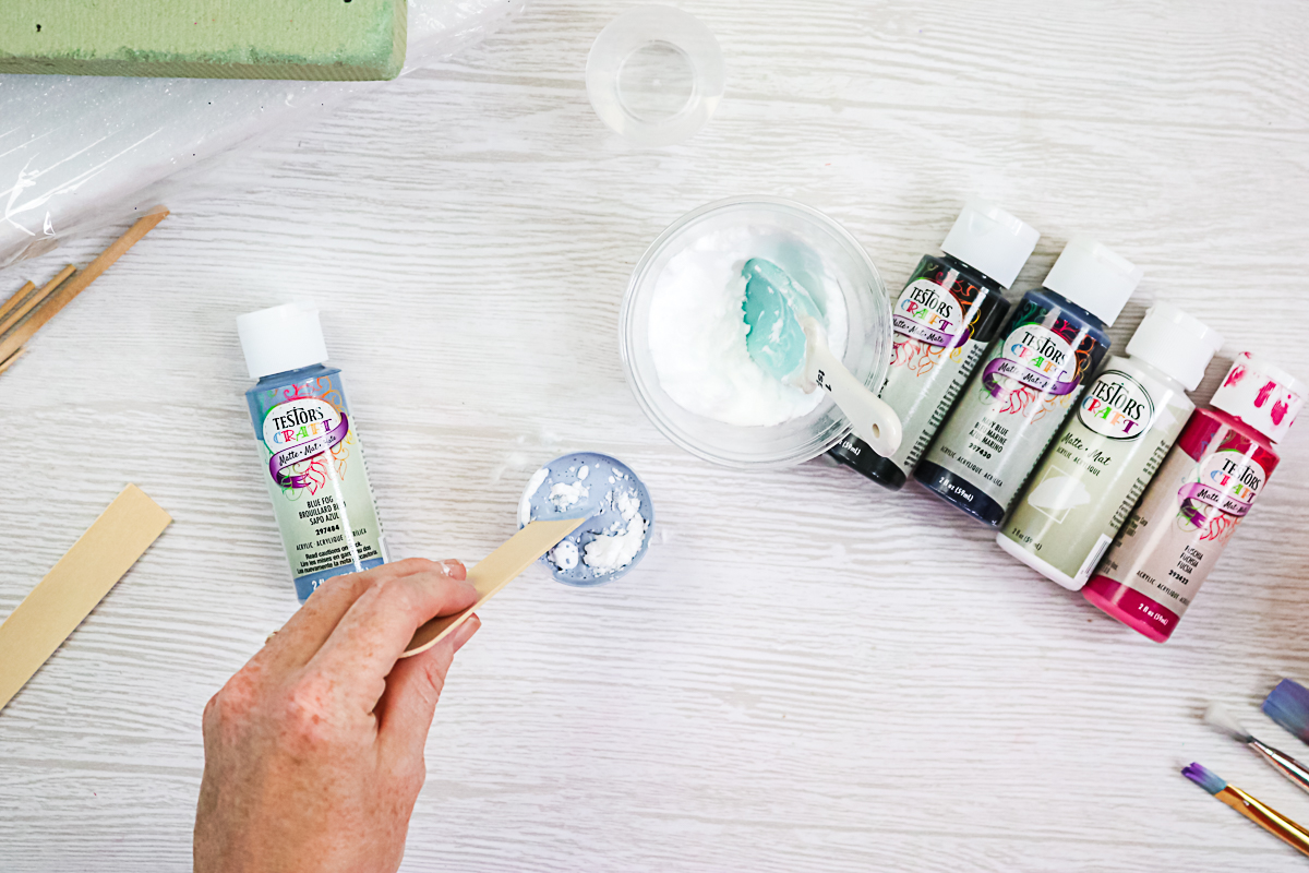 how to add baking soda to paint