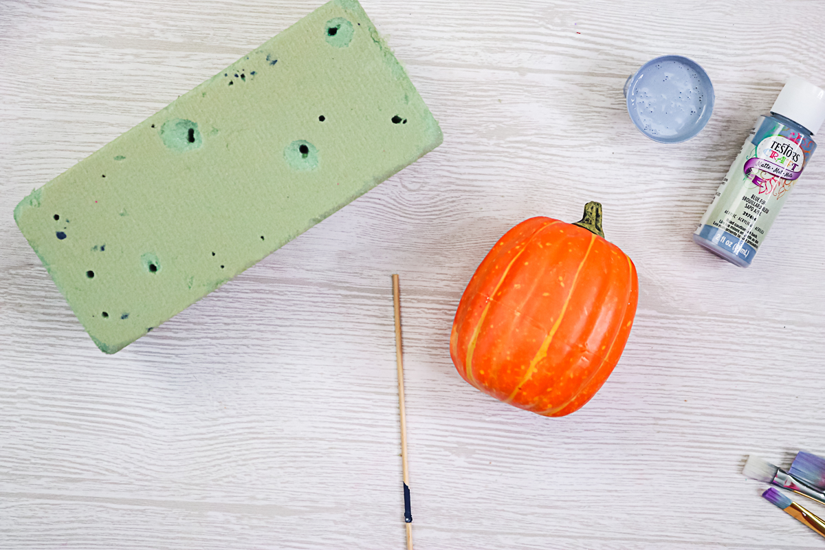 tips for adding paint to pumpkins
