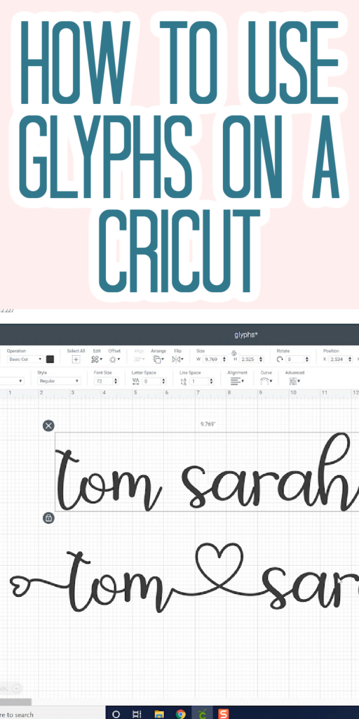 how to use glyphs in cricut design space