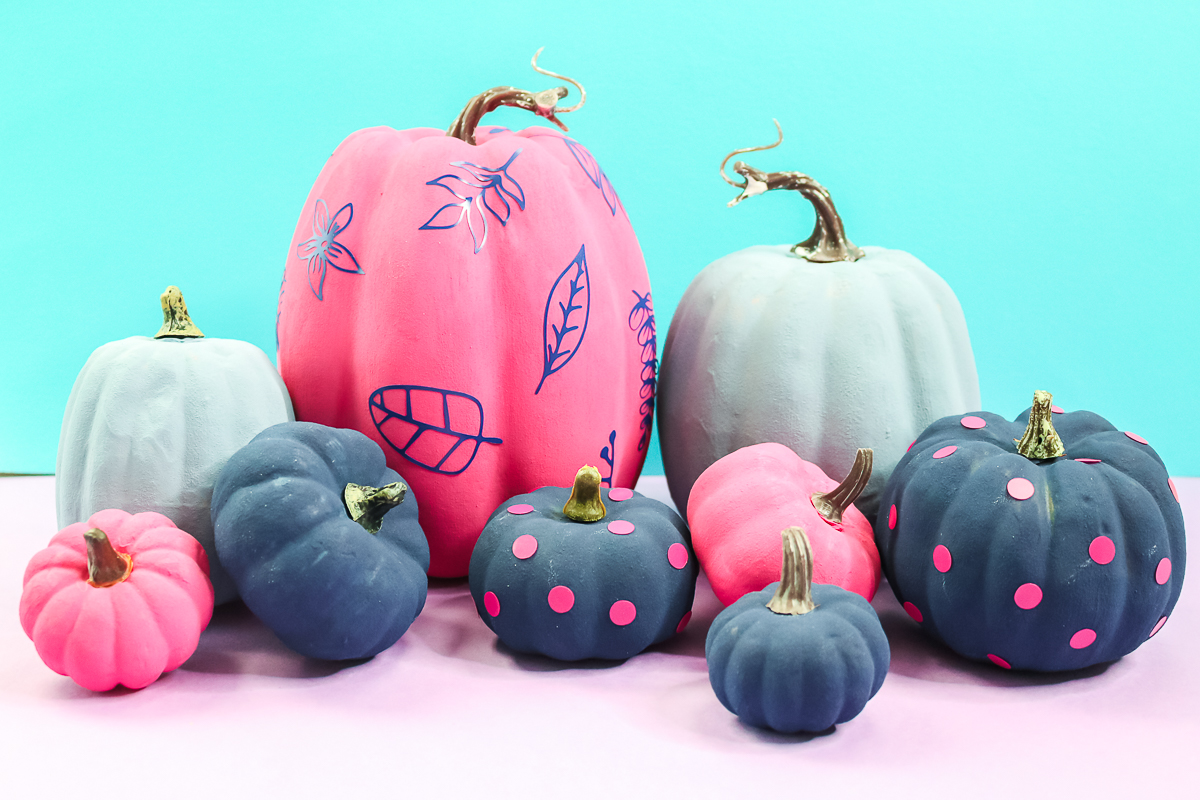 How to Paint Pumpkins and Add Texture