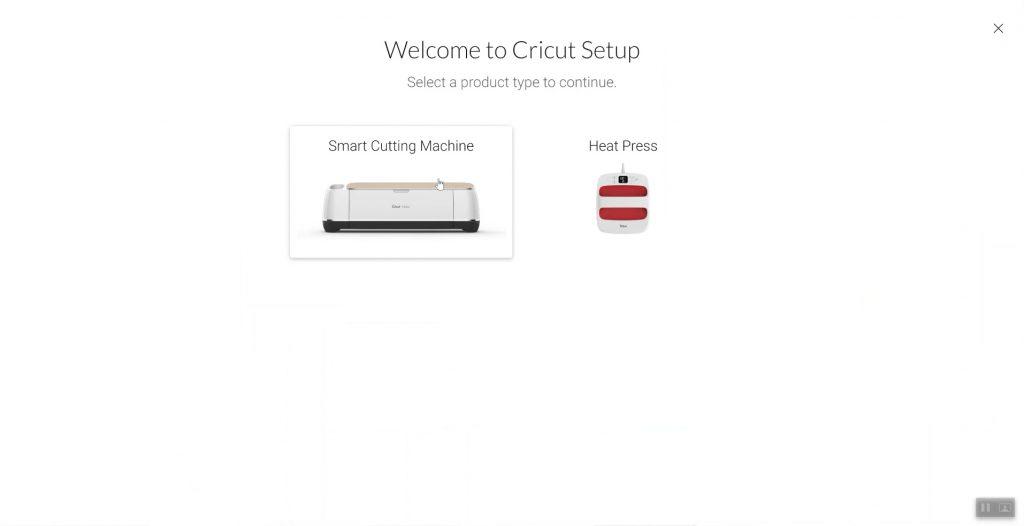 cricut machine setup