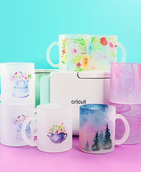sublimation mugs in the cricut mug press